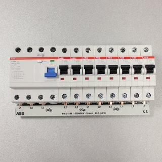 Set:1x FI F204A-40/0.03 +  8x S201-B16 + 1x PS3/12FI